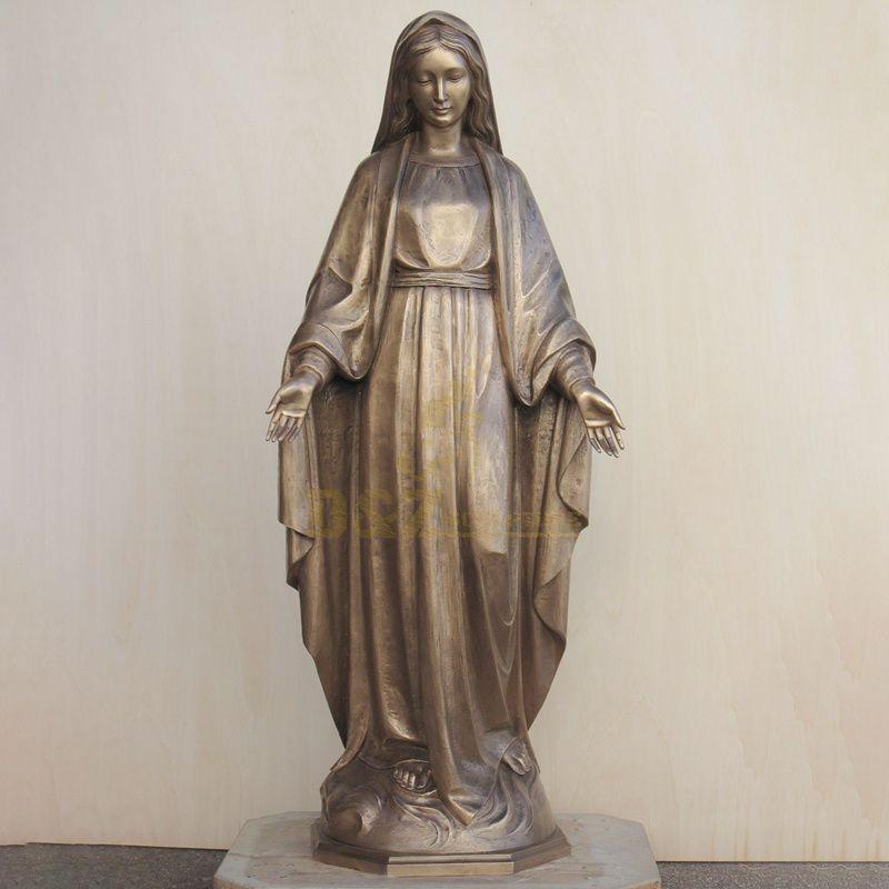 Life Size Bronze Virgin Mary Statue Catholic Statues