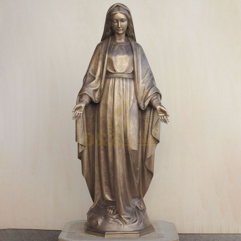 Customized Large Mary Bronze Sculpture Our Lady Of Assumption