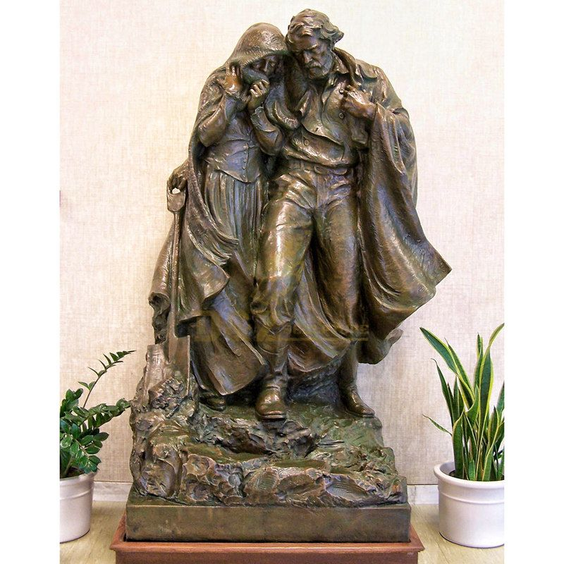 Bronze Religious Holy Family Sculpture Mary Jesus Statues