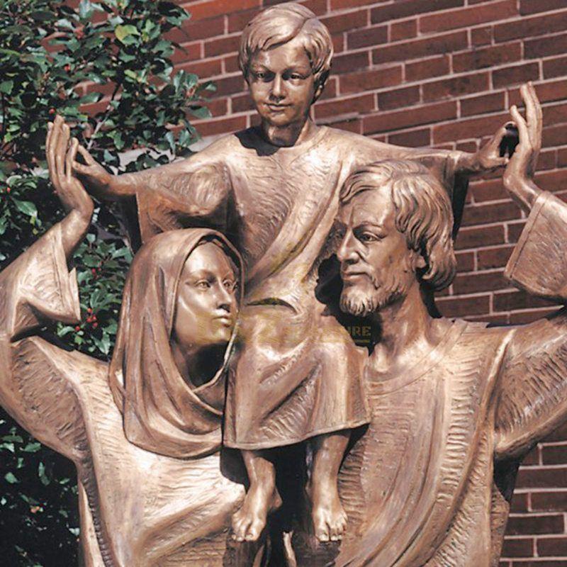 Decorative Churh Bronze Holy Family Statue