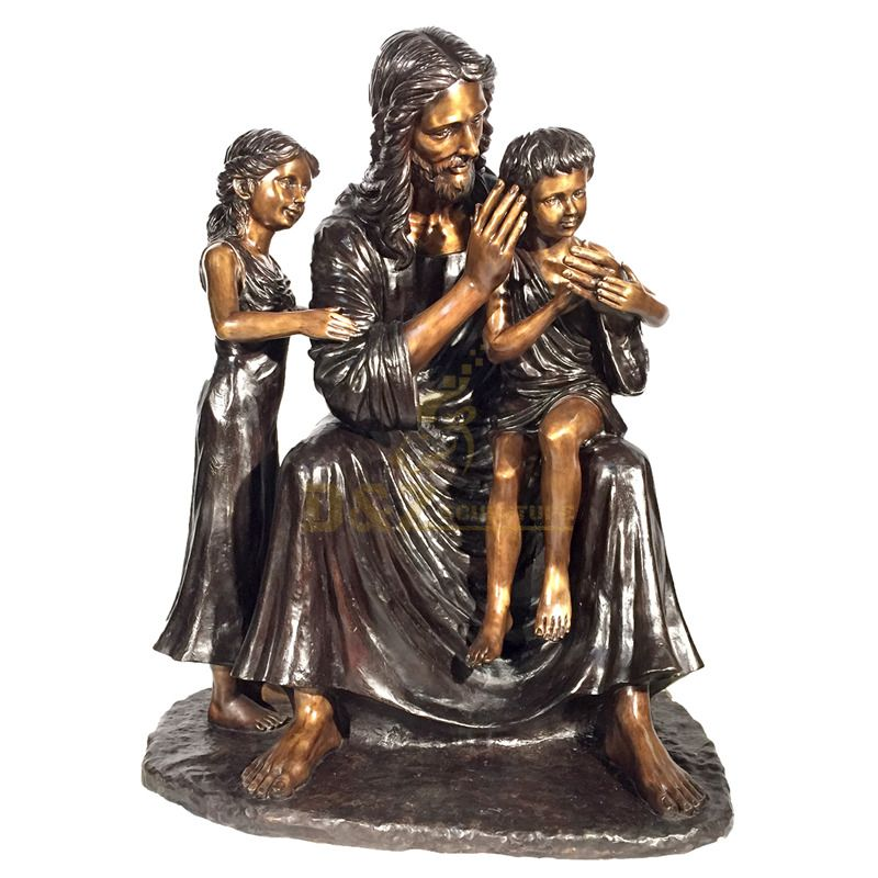 Outdoor Decor Casting Bronze Statue The Holy Family Sculptures
