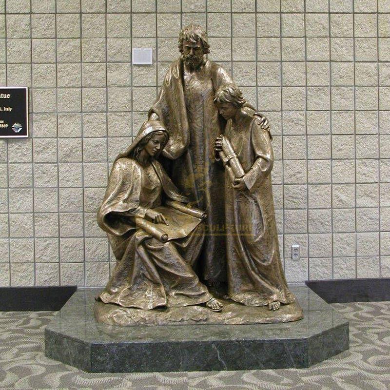 New Arrival Religious Life Size Jesus Christ Holy Family Statue Bronze Garden Sculpture