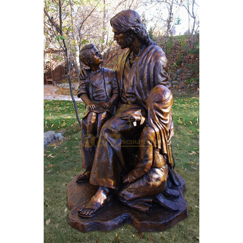 Chruch Decoration Religious High Quality Bronze Holy Family Statue