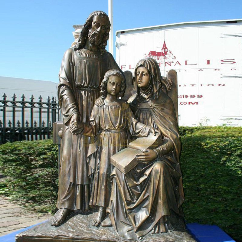 Life Size Abstract Religious Bronze Holy Family Sculpture Figurines