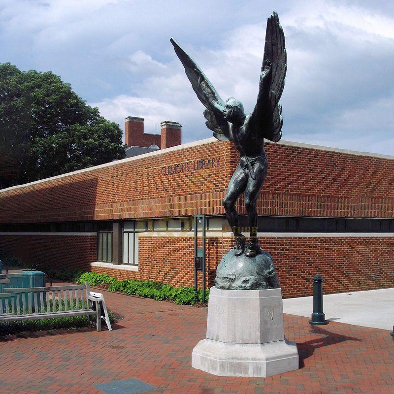 Bronze Sculpture Large City Landscape Bronze Angel Statue