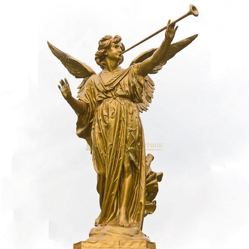 Factory Custom Direct Sale Bronze Sculpture Large City Landscape Bronze Angel Statue