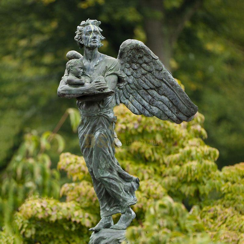 Art Collection Bass Copper Bronze Angel Statues Bronze Carving Bronze Sculpture