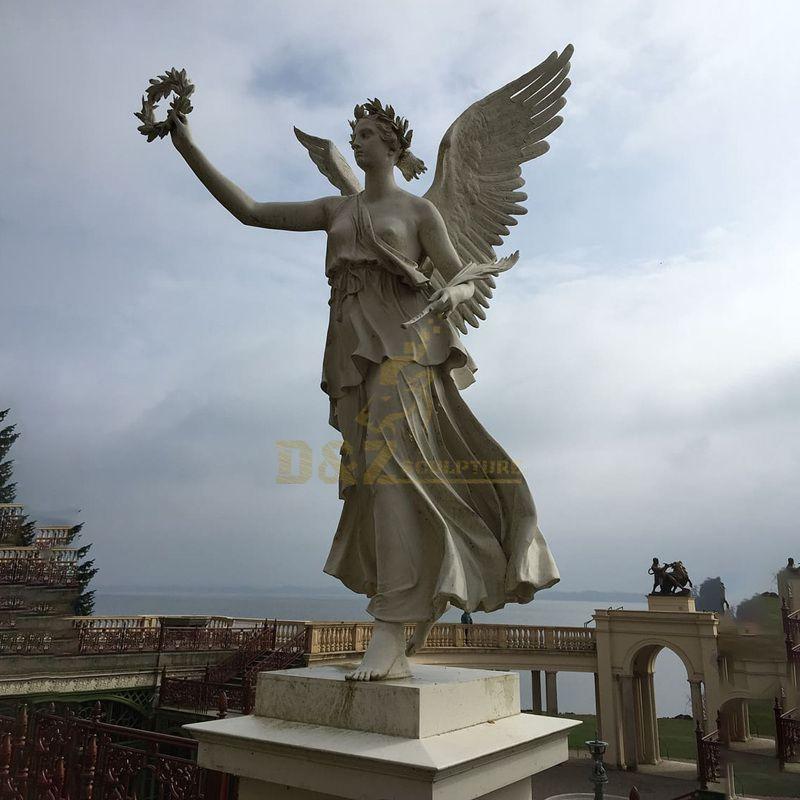 Outdoor Large Decoration Metal Crafts Bronze Angel Statue Garden