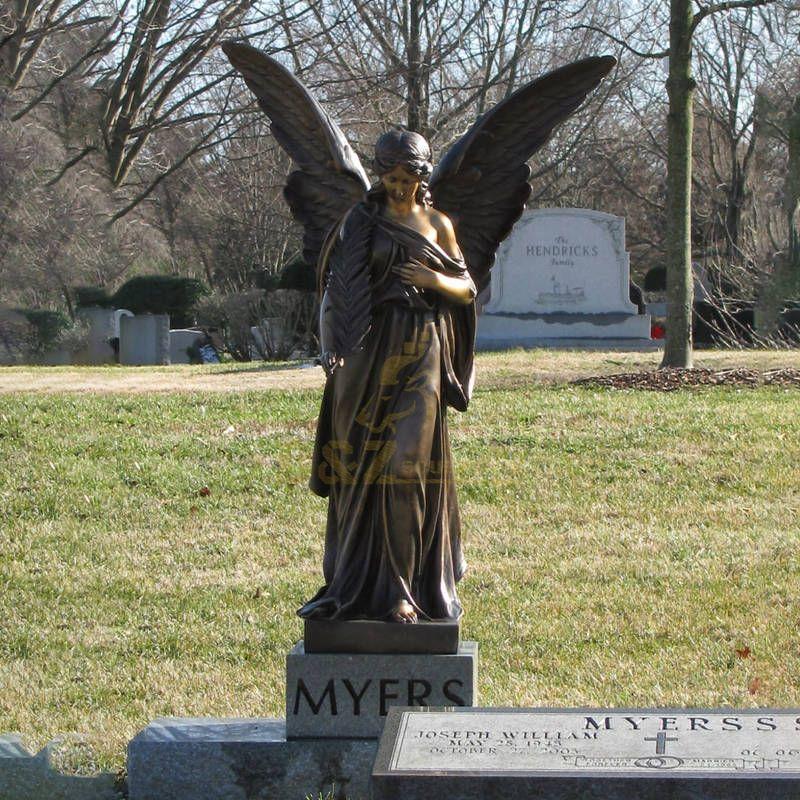 China Best Western Bronze Angel Sculpture Statue Life Size Outdoor Metal