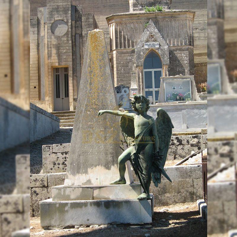 Garden Statue Bronze Statue Monument Boy Angel Statue