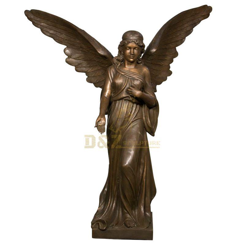 Factory Direct Bronze Garden Angel Sculpture For Sale
