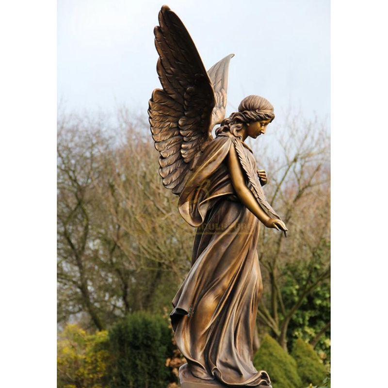 Beautiful Angel Figure Bronze Sculpture Of Angel In The West