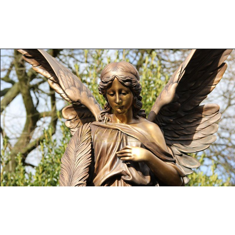 Sell Well The Elegant And Beautiful Angel Figure Bronze Sculpture