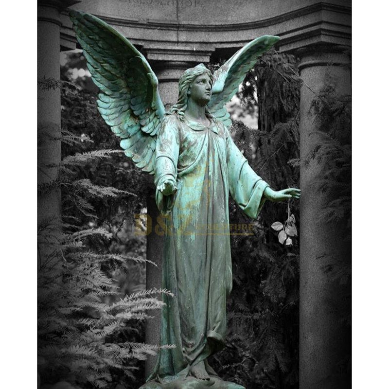 Angel Orthodox Religious Bronze Finish Statue Angel Sculpture