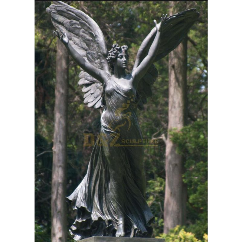 Large Size Roman Religious Mythological Metal Carved Angel Statue