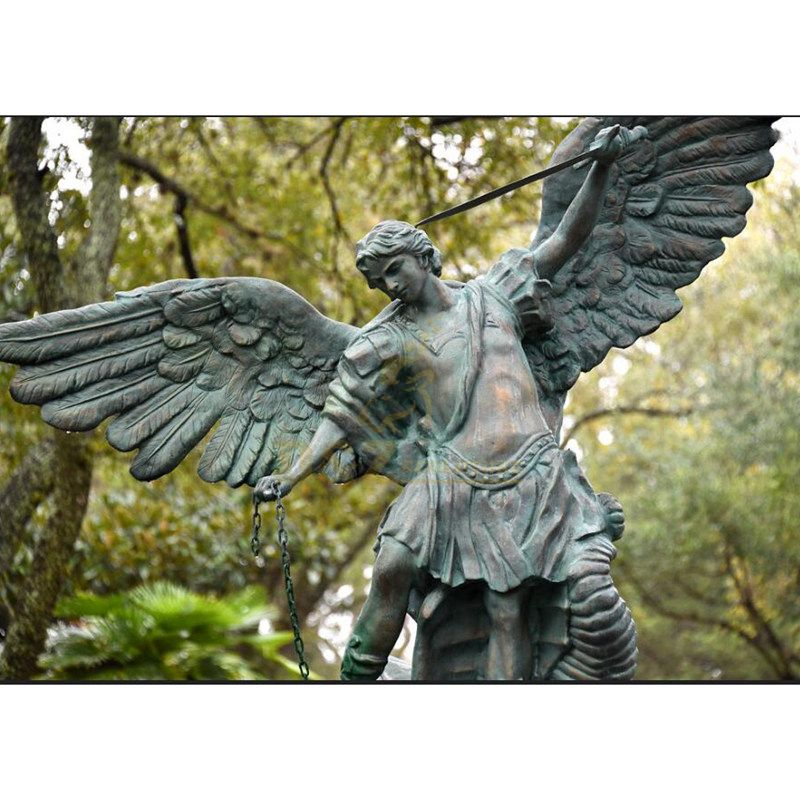 Home Decor Bronze Life Size Gothic Angel Statues