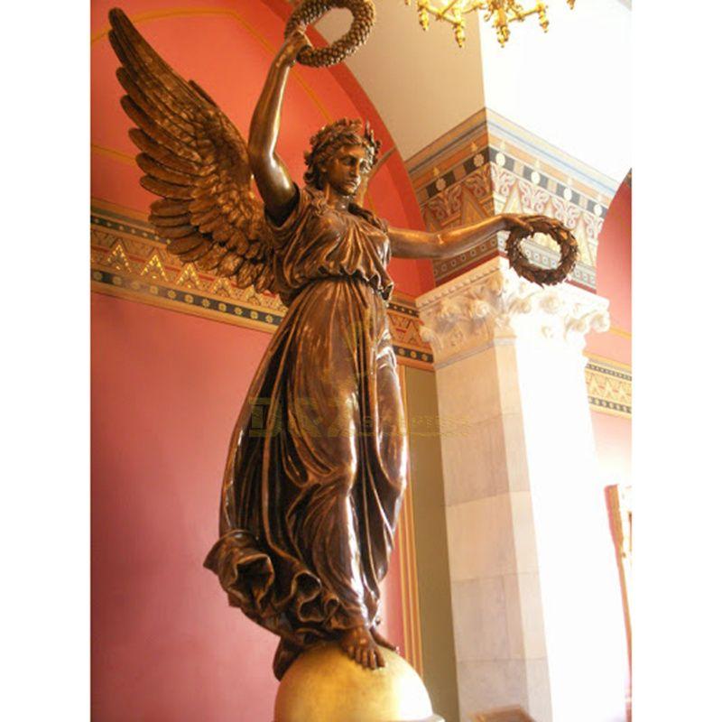 Life size Beautiful White Indoor Bronze Angel Statue