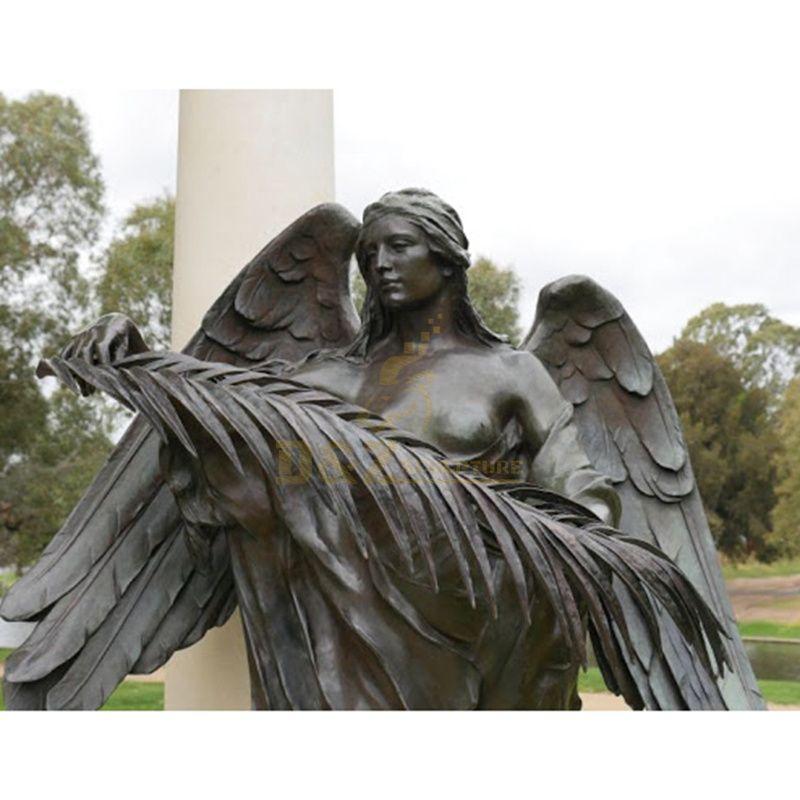 Garden Furniture Outdoor Angel Statue Bronze Art Cast