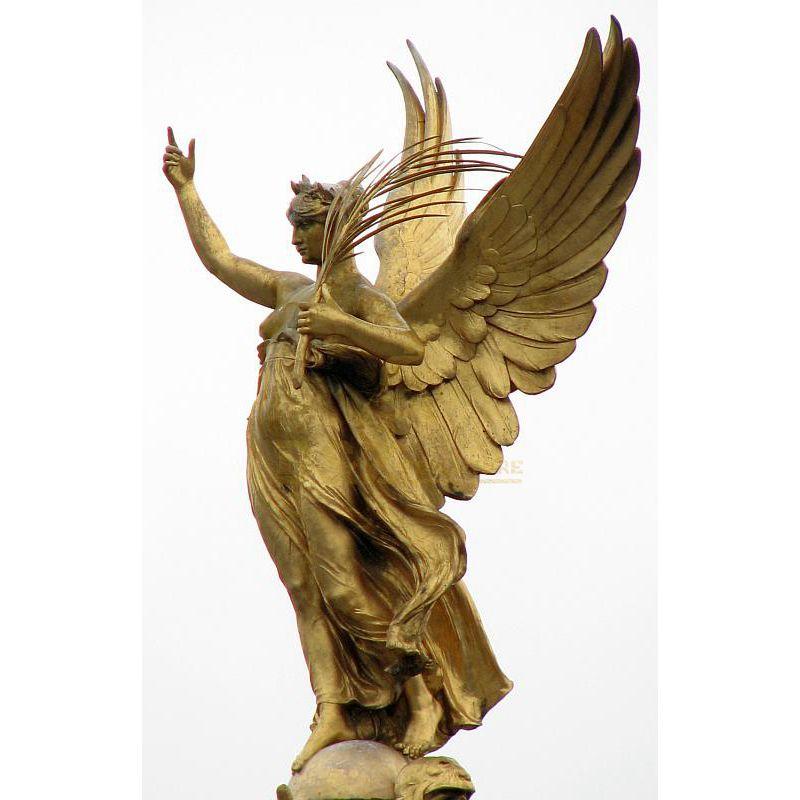 Customized Lost-Wax Cast Bronze Angel Statue Sculpture