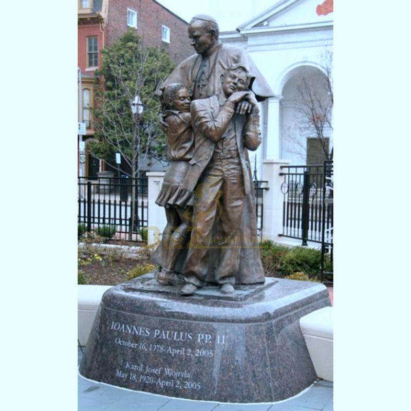 Large Famous Cast Bronze Statues Pope John Paul II