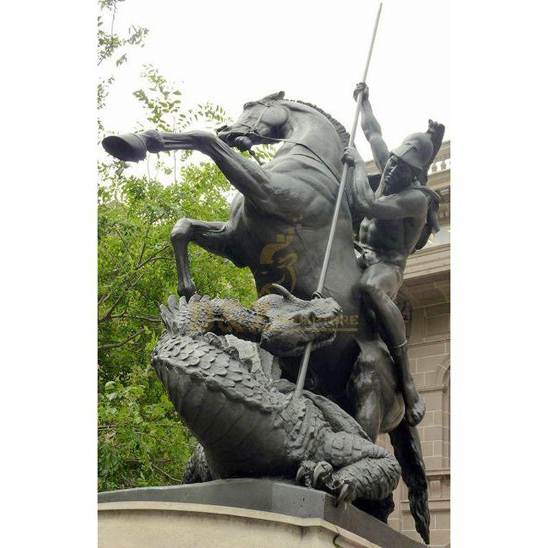 Factory Wholesale Have Mold Bronze Life Size Saint George Riding Statue