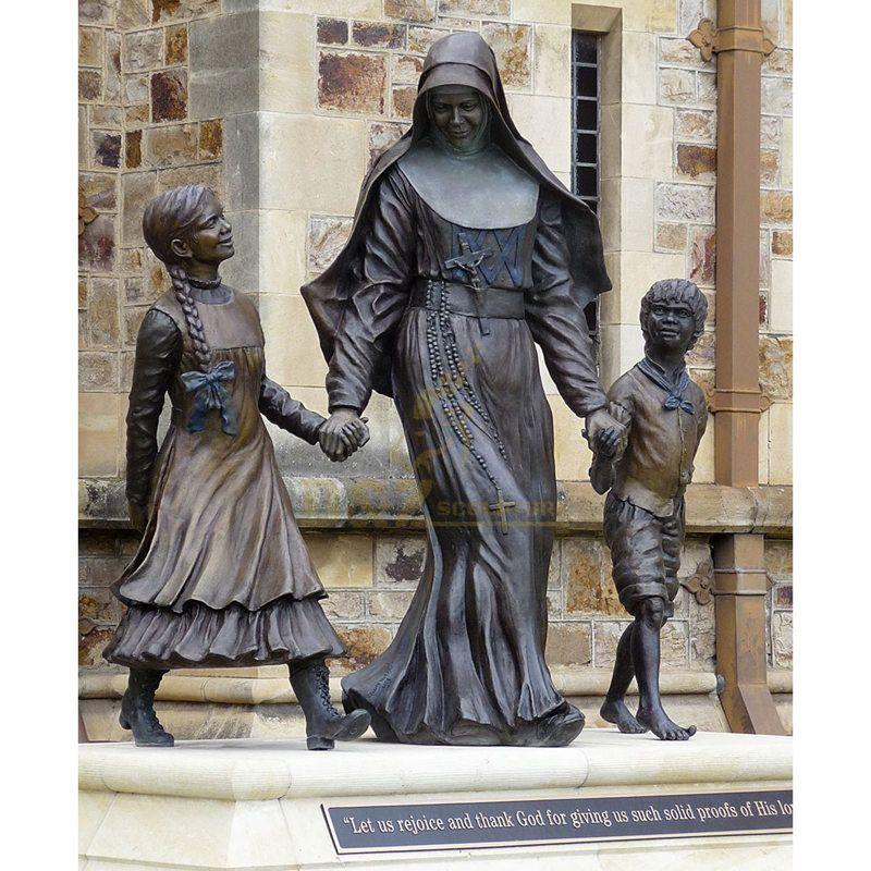Bronze Catholic Statue Of Saint Mother Teresa