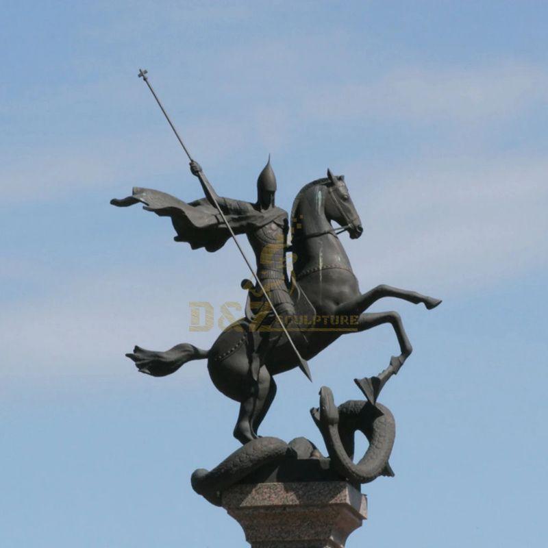 New Products Bronze Catholic Statue Of Saint George
