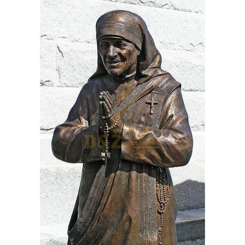 Teresa Mother Lifesize Religious Bronze Sculptures For Art