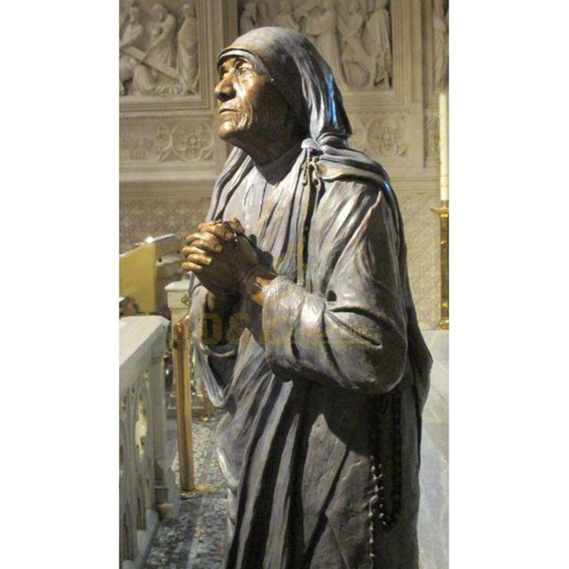 Famous Celebrity Mother Teresa Life Size Bronze Figure For Sale