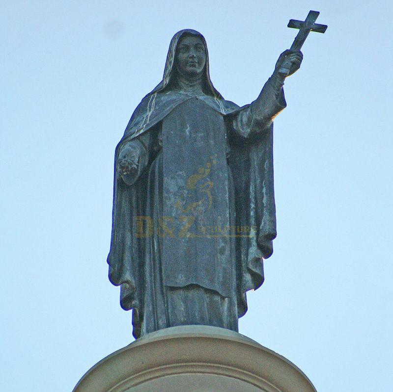 Theme Park Garden Metal Craft Life Size Bronze Mother Teresa Statue