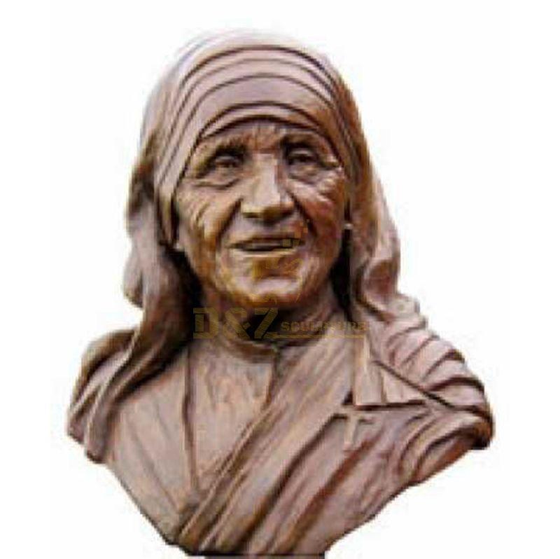 Wholesale Church Decorations Bronze Life Size Mother Teresa Statue