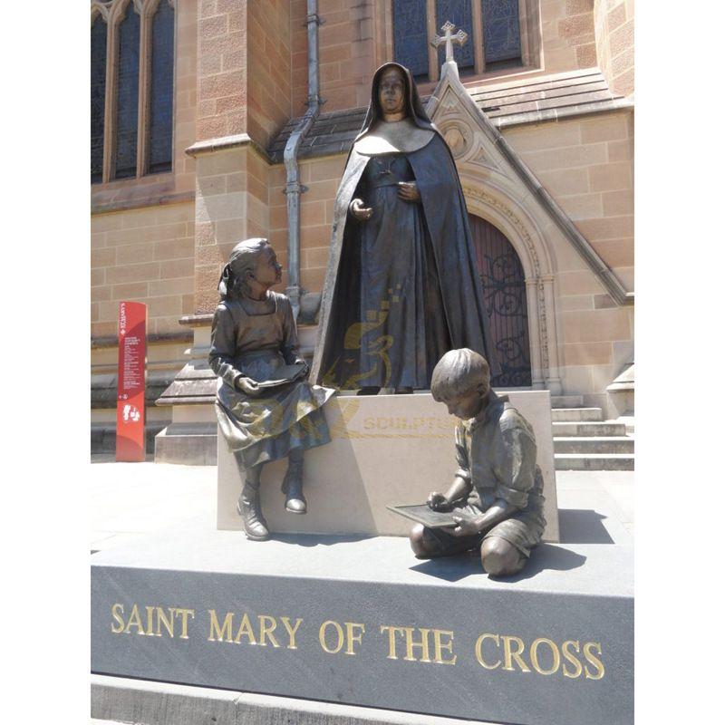 Famous Metal Religious Figure Sculpture Bronze Mother Teresa Statue
