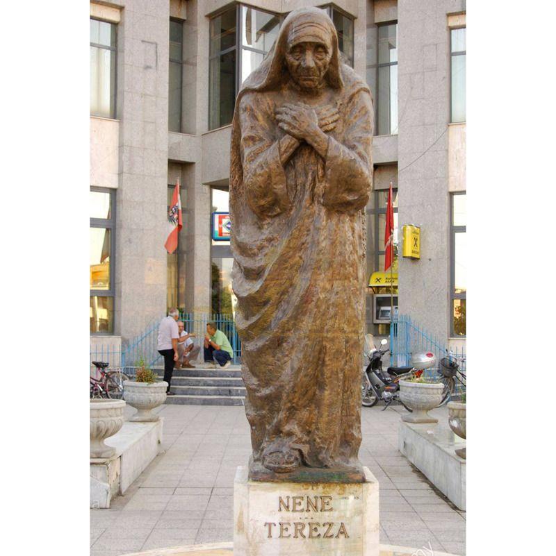 Life Size Catholicism Figure Bronze Mother Teresa Statue