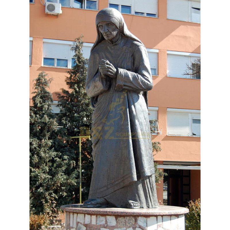 Life Size Cast Bronze Mother Teresa Statue For Sale