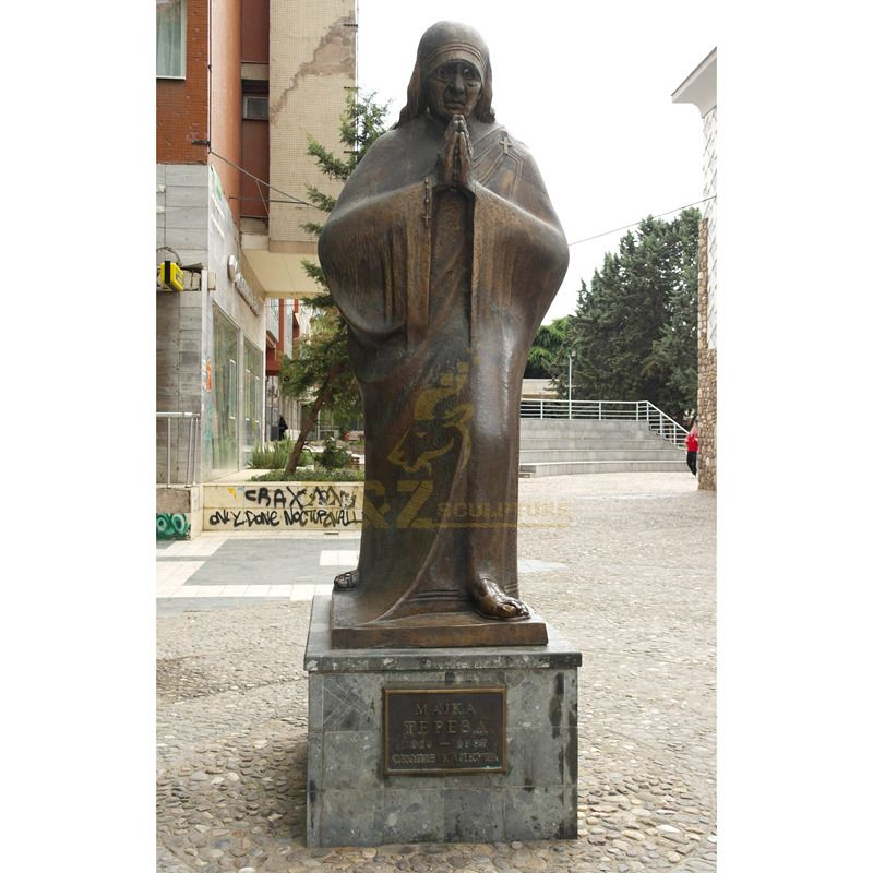 Nice Quality Life Size Religious Mother Teresa Sculptures