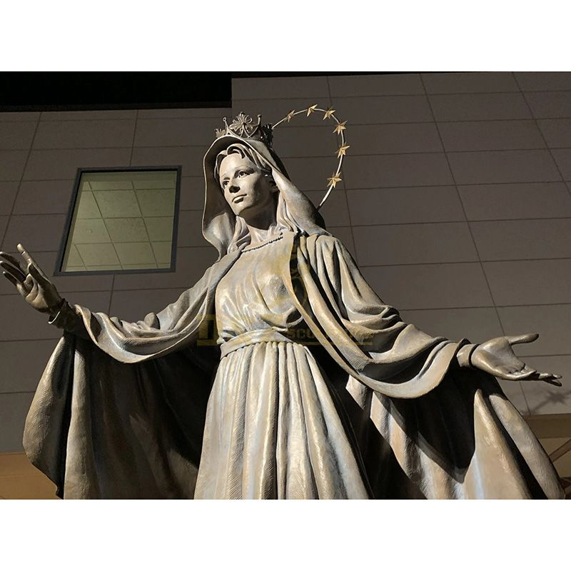 Hail Mary Statue Mary With Her Hands Open Sculpture