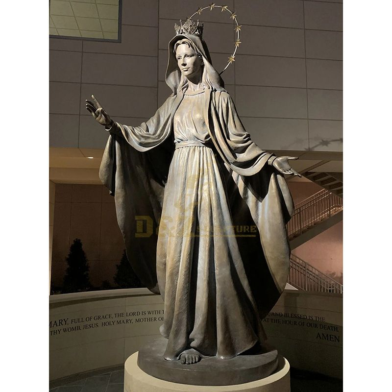 Lost Wax Casts A Life-size Hail Mary Bronze Statue