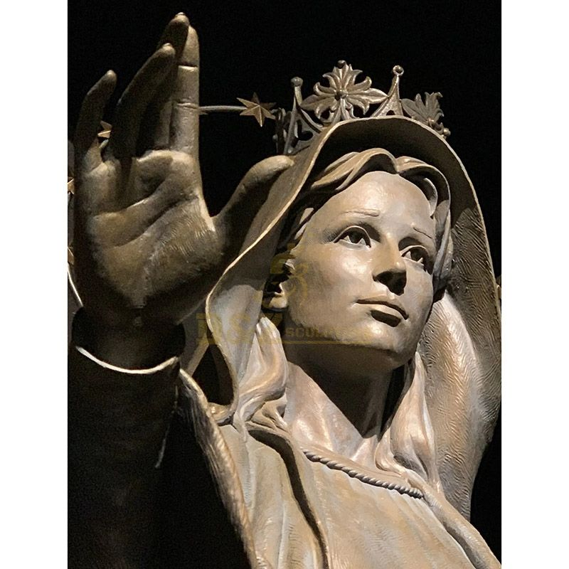Handcrafted Outdoor Bronze Statue Of Hail Mary