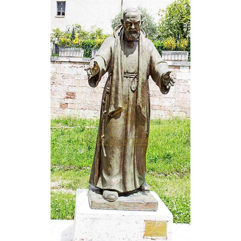 Human Statues Life Size Outdoor Garden Modern Padre Pio Sculpture