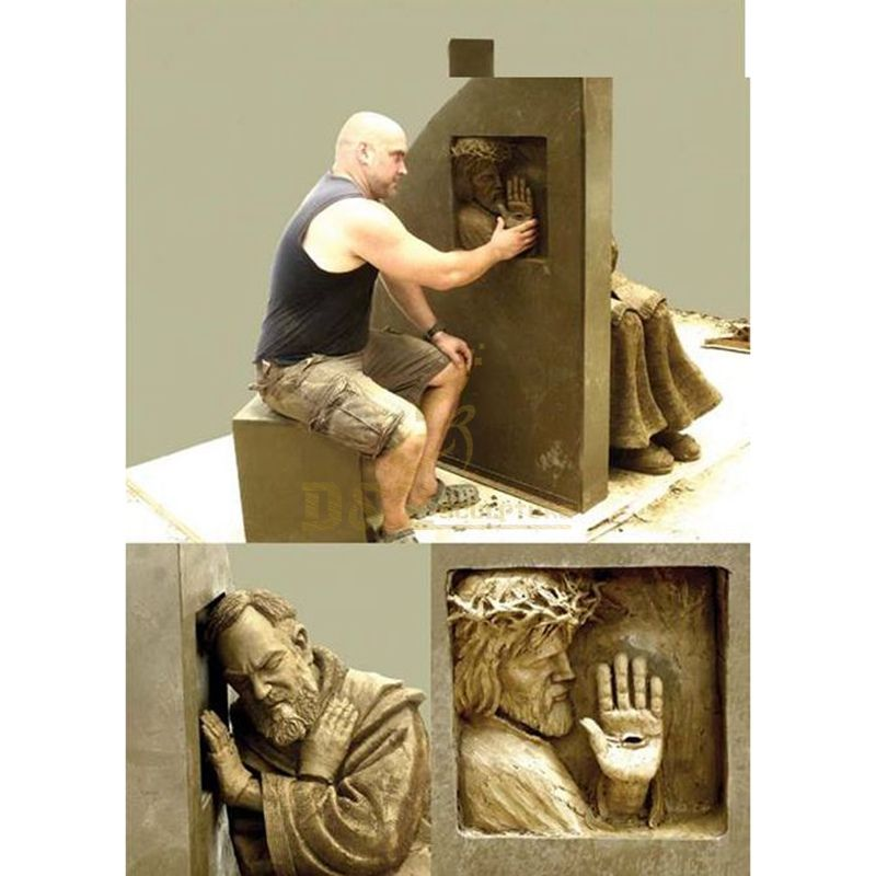 Garden Modern Famous Religious Decoration Metal Bronze Padre Pio Sculpture