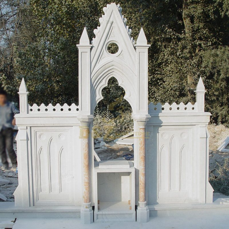 Antique White Marble Altar Table For Church