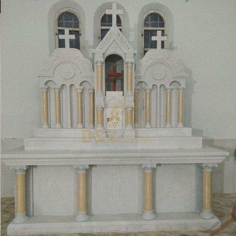 Marble Stone Catholic Jesus Christ Altar Cross Statue