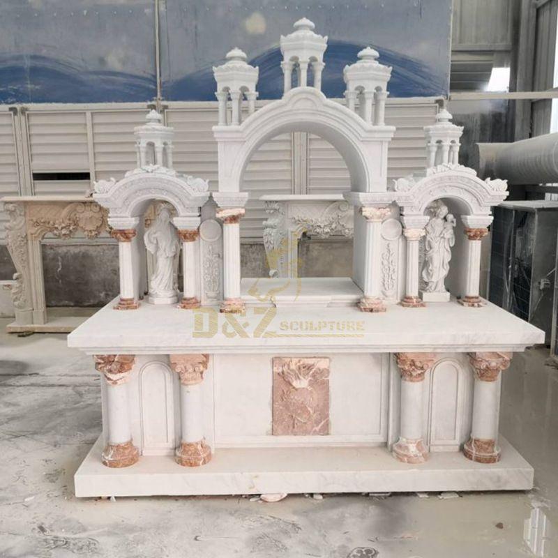 Religious Western Style Church Marble Altars