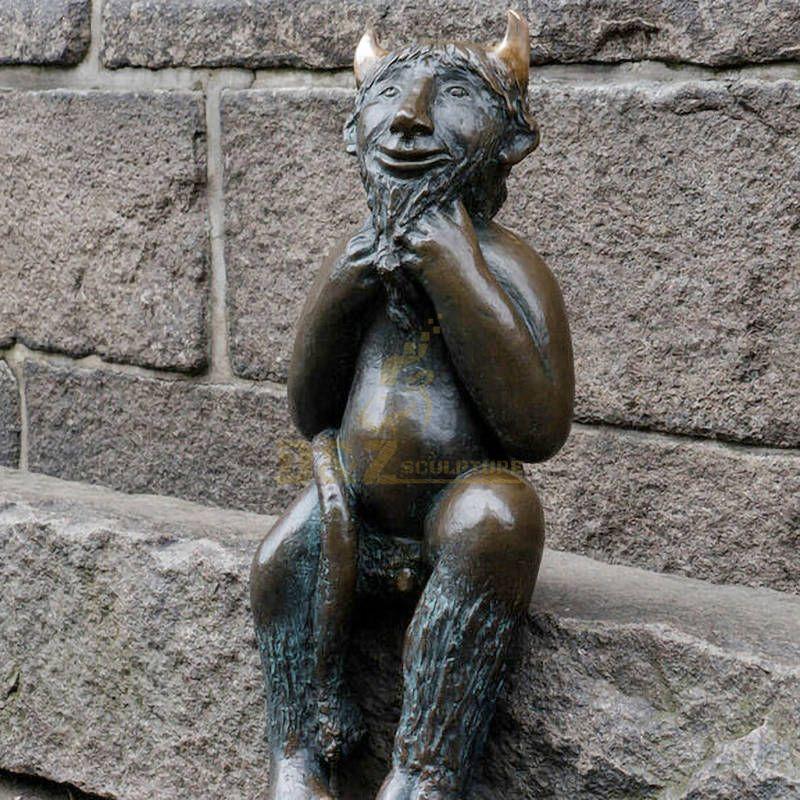 Outdoor Decoration Of Bronze Statue Of Satan