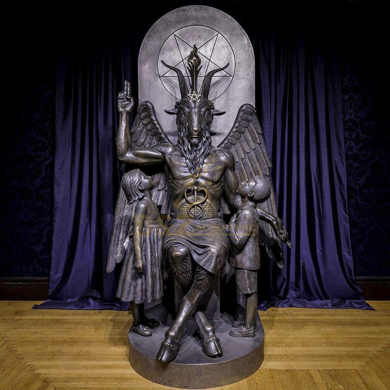 Classic Bronze Sculpture Designed For Sheep Head Satan