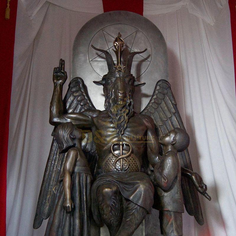 Lost Wax Cast Bronze Statue Of Satanic