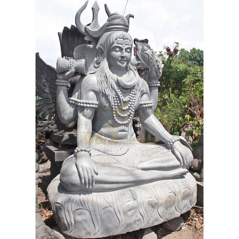 High Quality Garden Decorative India Marble Lord Shiva Statue