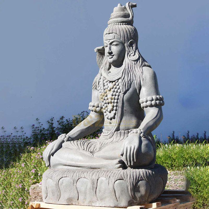 Lifesize Factory Price Indian Hindu God Lord Shiva Stone Marble Statue
