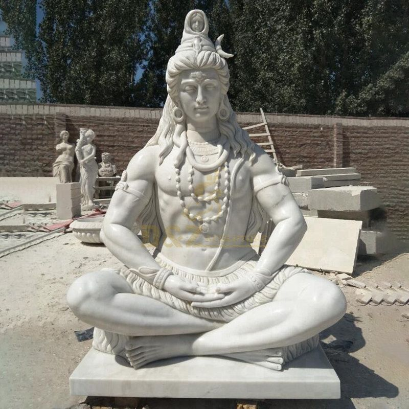 Life Size Lord Shiva Statue Home Garden Decoration