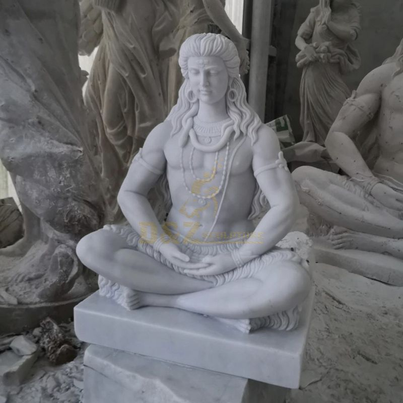 Outdoor Decoration Cheapest Marble Carving Lord Shiva Statue